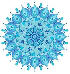 round pattern snowflake vector image