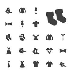 22 garment icons vector