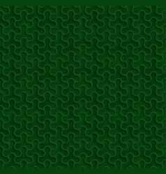 3d seamless web geometric pattern green vector image
