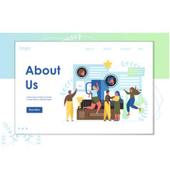 About us website landing page design vector