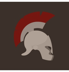 Antiques Greek Helmet Isolated vector image