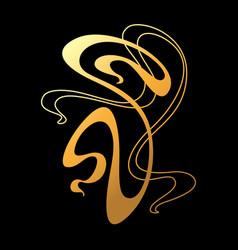 art nouveau decorative element vector image