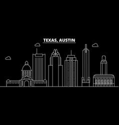 Austin silhouette skyline usa - austin vector