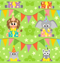 background seamless with animals vector image