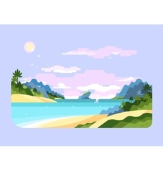 Beach flat design vector