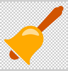 Bell alarm icon in flat style bell jingle on vector