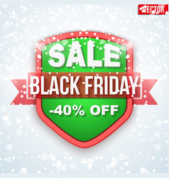 Black friday sale badge and label vector
