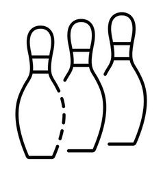 bowling pins stand icon outline style vector image
