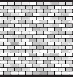 Brick pattern seamless gray brick wall vector