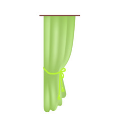 Bright green curtain pattern isoalted on white vector