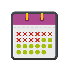 calendar plan icon flat style vector image