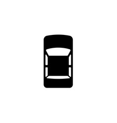 car top view flat icon vector image