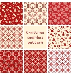 Christmas seamless floral vector image