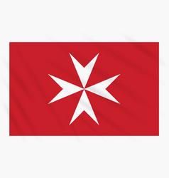 Civil ensign of malta swaying in wind vector