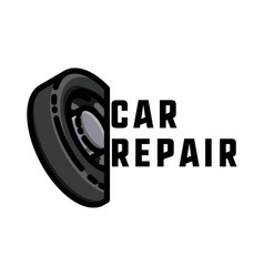 color vintage car repair emblem vector image