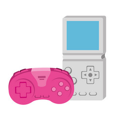 Control game with video game handle nineties style vector