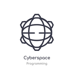 Cyberspace outline icon isolated line from vector