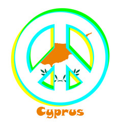 Flag of cyprus as a sign of pacifism vector