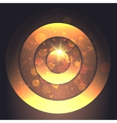 Golden Circular Backround vector image
