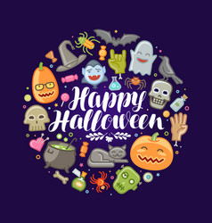 halloween concept holiday festival celebration vector image