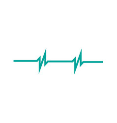 heart rhythm two peaks ekg isolated on white vector image