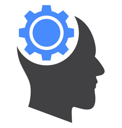 human intellect gear icon vector image