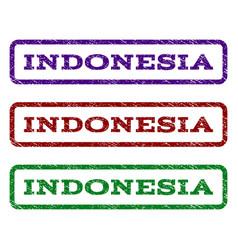 indonesia watermark stamp vector image