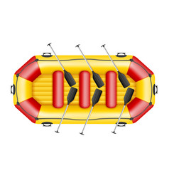 inflatable rafting boat vector image