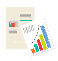 Information charts business analytics banner vector