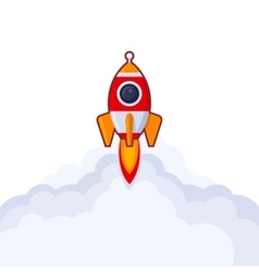 Launch Rocket Icon on White Background vector image