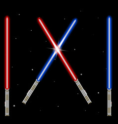 Light swords weapon futuristic from star war shi vector