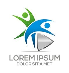 Logo People Healthy Arrow vector
