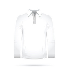 long white t-shirt vector image