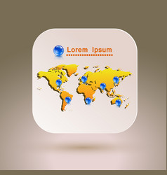 map icon for application vector image