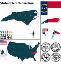 Map north carolina vector