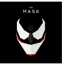 Mask Hero superhero flat style icon logo vector