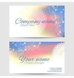 Modern business card template vector