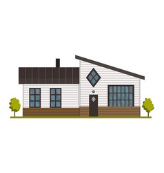 modern country home for booking and living house vector image