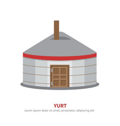 Mongolian yurt icon vector