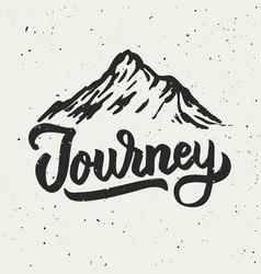 Mountain journey hand drawn vector