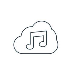 music storage icon vector image