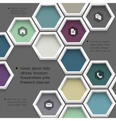 New design hexagons background for website vector image