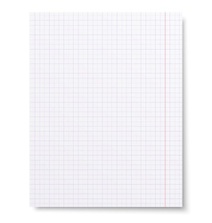 Notebook squared paper background isolated vector