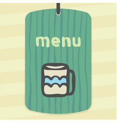 Outline tee or coffee cup icon modern infographic vector