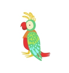 Parrot Stylized Childish Drawing vector image