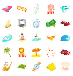 Persistence icons set cartoon style vector