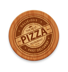 Pizza restaurant logo vector