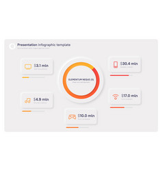 presentation infographic template in a modern vector image