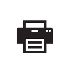 Printer - black icon on white background vector
