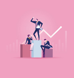 reach success flat design business people concept vector image